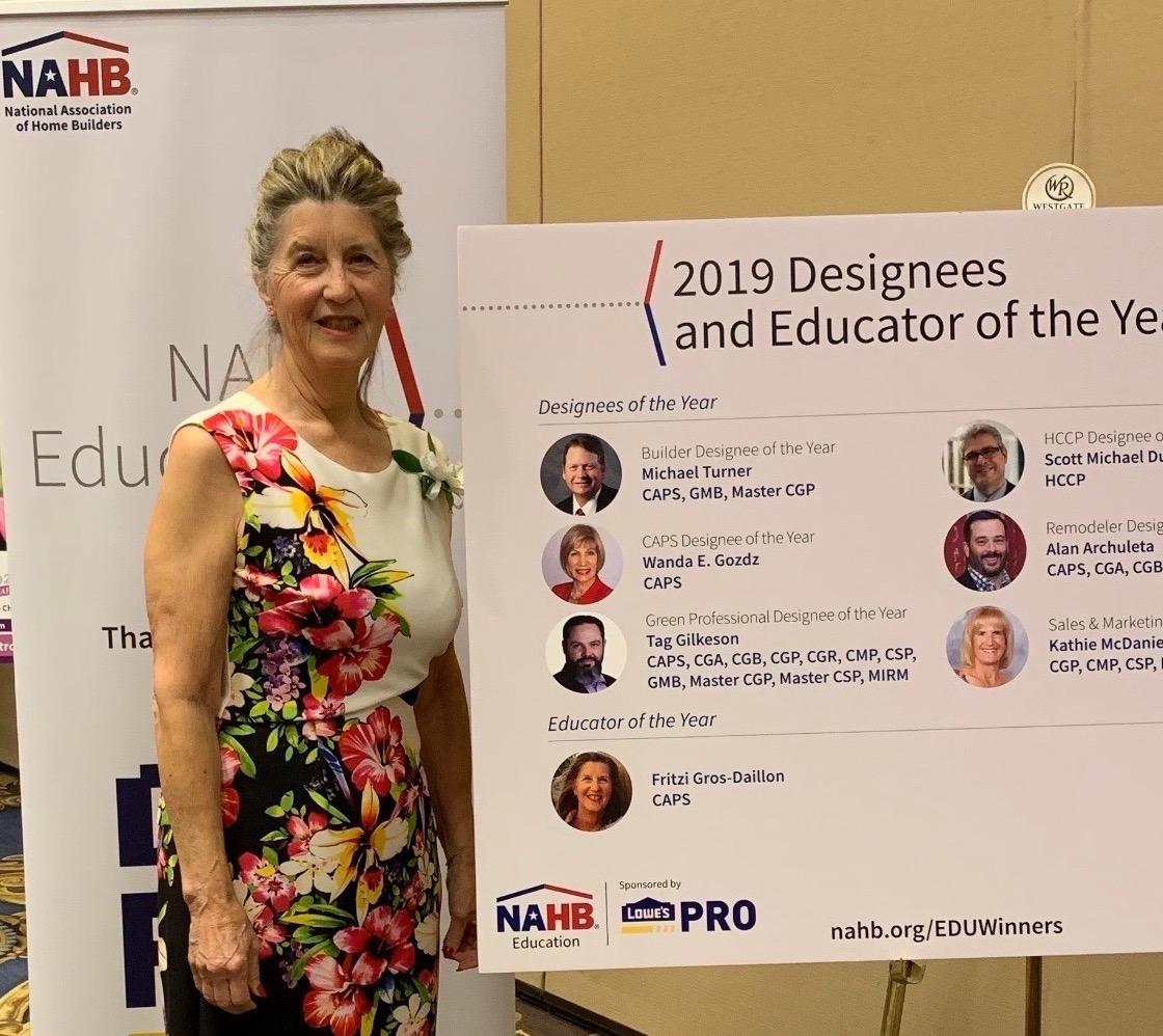 Fritzi Wins NAHB 2019 Educator of the Year Award!