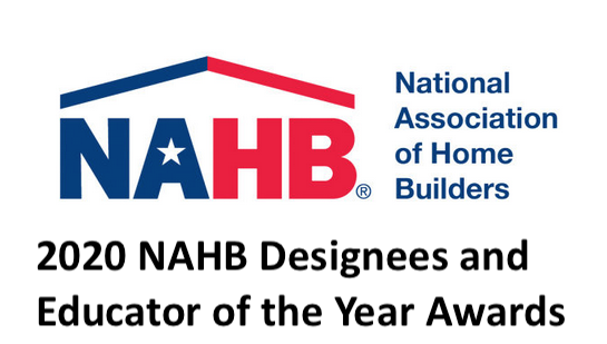 Congratulations 2020 NAHB Designees and Educator of the Year